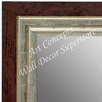 MR1721-3 | Distressed Red / Silver | Custom Wall Mirror | Decorative Framed Mirrors | Wall D�cor