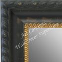MR1731-1 | Distressed Black with Gold | Custom Wall Mirror | Decorative Framed Mirrors | Wall D�cor