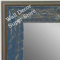 MR1734-2 | Distressed Denim | Custom Wall Mirror | Decorative Framed Mirrors | Wall D�cor
