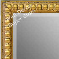MR1747-3 | Distressed Gold Leaf Beads | Custom Wall Mirror | Decorative Framed Mirrors | Wall D�cor