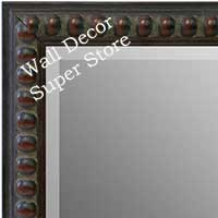 MR1747-4 | Distressed Brown Beads | Custom Wall Mirror | Decorative Framed Mirrors | Wall D�cor