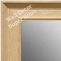 MR1761-1 | Unfinished Wood Frame | Unfinished Natural Wood Moulding - Paint or Stain | Custom Wall Mirror