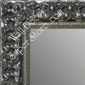 MR1769-4 | Silver / Black / Ornate | Custom Wall Mirror | Decorative Framed Mirrors | Wall D�cor
