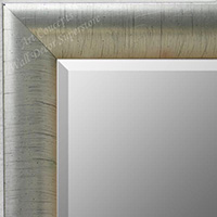 MR1778-2 | Distressed Silver Leaf - Crescent Moulding | Custom Wall Mirror | Decorative Framed Mirrors | Wall D�cor
