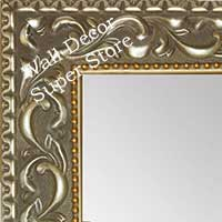 MR1862-3 Ornate Satin Nickel With Gold - Value Priced - Large Custom Wall Mirror Custom Floor Mirror
