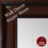 MR1864-1 Walnut - Value Priced - Large Custom Wall Mirror Custom Floor Mirror