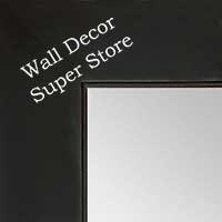 MR1865-1 Matte Satin Black - Value Priced - Large Custom Wall Mirror Custom Floor Mirror