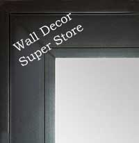 MR1868-1 Matte Satin Black - Value Priced - Large Custom Wall Mirror Custom Floor Mirror