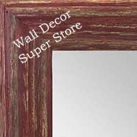 MR1880-2 Deep Distressed Rustic Red - Large Custom Wall Mirror Custom Floor Mirror
