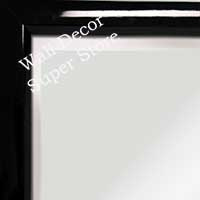 MR311-1 High Gloss Black Lacquer - Very Small Custom Wall Mirror