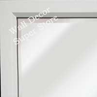MR311-2 High Gloss White Lacquer - Very Small Custom Wall Mirror