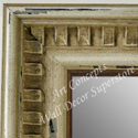 MR5207-1 Ivory Sandstone With Gold Accent Distressed Piano - Extra Large Custom Wall Mirror Custom Floor Mirror