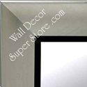 MR5209-2 Contemporary Satin Nickel Silver With Black - Extra Large Custom Wall Mirror Custom Floor Mirror