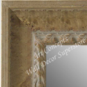 MR5210-3 Almond Distressed Scoop  - Extra Extra Large Custom Wall Mirror Custom Floor Mirror