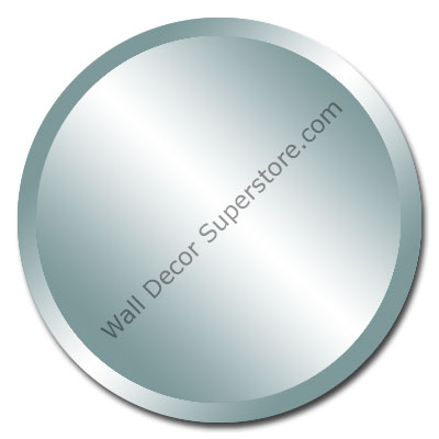 Beveled round frameless mirrors made to your size