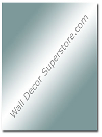 Custom flat polished square or rectangle custom frameless mirror made to your size