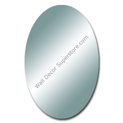 Purchase a flat polished oval mirror made to your exact size