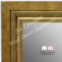 WM1721-1 | Distressed Gold | Custom Three Panel Wing Mirror