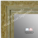 WM1721-4 | Distressed Green / Silver | Custom Three Panel Dressing Mirror