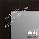 WM1845-1 Value Price - Espresso Coffee Brown - Custom Three Panel Dressing Mirror