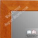 WM1845-2 Value Price - Classic Honey Maple - Custom Three Panel Dressing Mirror
