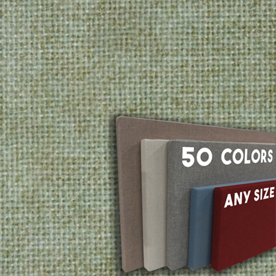 FW800-29 Spring Green Frameless Fabric Wrap Cork Bulletin Board - Classic Hook And Loop Velcro