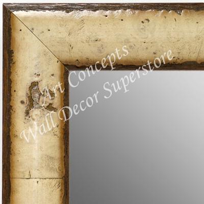 Mr1693 1 Light Cream Tan Burl Wood With Espresso Large Custom Wall Mirror Floor