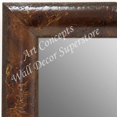 Mr1693 3 Dark Walnut Maple Burl Wood Large Custom Wall Mirror Floor