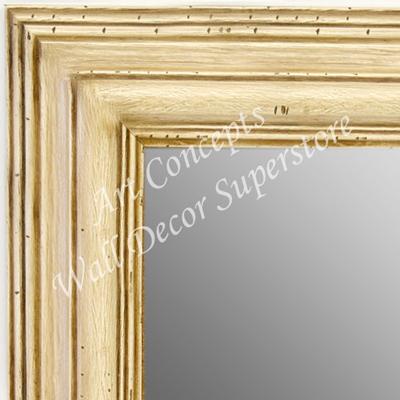 Mr1705 2 Distressed Ivory Cream Extra Large Custom Wall Mirror Floor