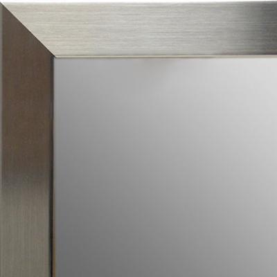 Brushed Nickel Wall Mirror mr1708-1 brushed satin nickel stainless steel look silver - mica