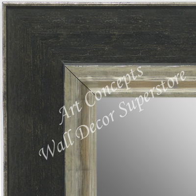 MR1719-4 Brushed Distressed Black With Silver - Extra Large Custom ...