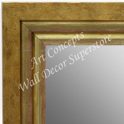 Mr1721 1 Brushed Distressed Gold Large Custom Wall Mirror