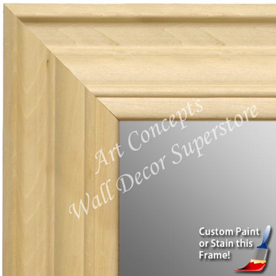 MR1749-1 Unfinished Natural Wood 4 Inch Frame - Paint or Stain ...