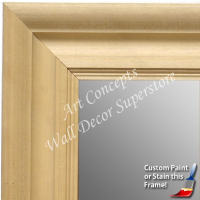 mr1750 1 unfinished natural wood 35 inch frame paint or stain extra large custom wall mirror custom floor mirror