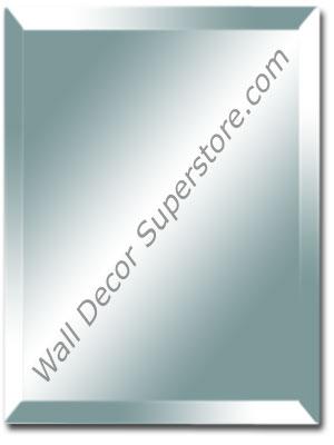 Custom Beveled Edge Frameless Wall Mirrors