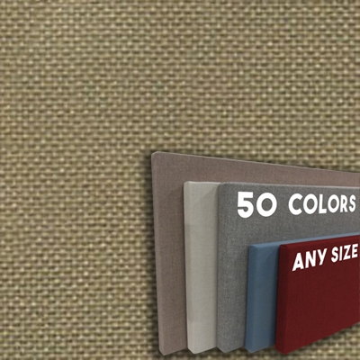 FW800-22 EARTH - Frameless Fabric Wrap Cork Bulletin Board - Classic Hook And Loop Velcro