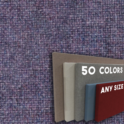 FW800-50 Light Violet Mix Frameless Fabric Wrap Cork Bulletin Board - Classic Hook And Loop Velcro