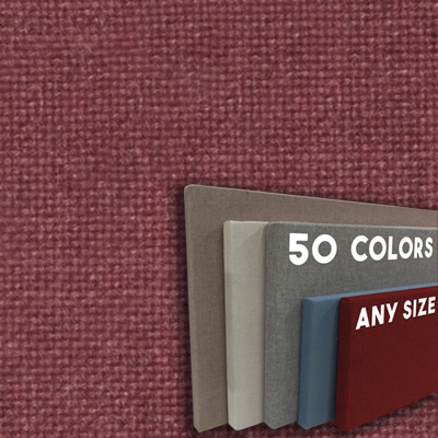 FW800-56 Sienna Frameless Fabric Wrap Cork Bulletin Board - Classic Hook And Loop Velcro