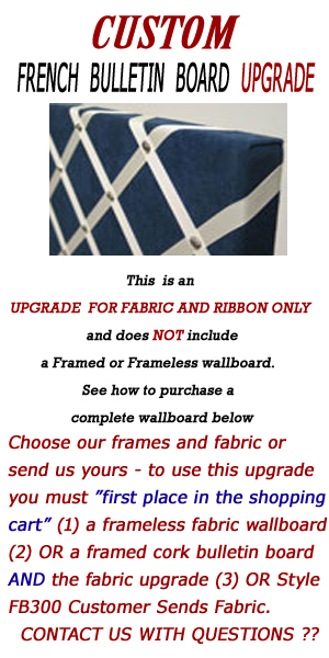 UPG202 - UPGRADE YOUR FABRIC WRAPPED WALLBOARDS TO A FRENCH BULLETIN BOARD
