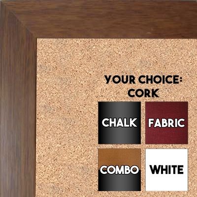 BB131-3 Light Walnut  Small To Medium Small To Medium Custom Cork Chalk or Dry Erase Board