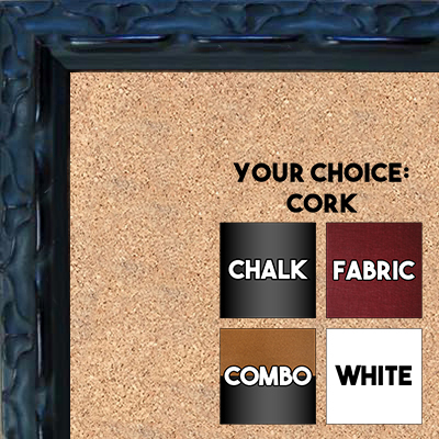 BB178-1 Ornate Dark Espresso Small To Medium Custom Cork Chalk or Dry Erase Board