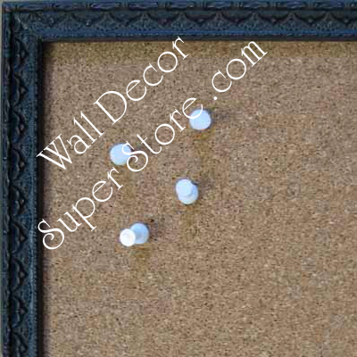 BB181-1 Ornate Expresso Black Small Custom Cork Chalk or Dry Erase Board