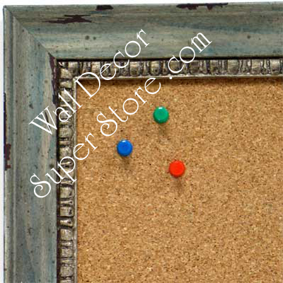 BB1402-5 Distressed Bluebell Custom Cork Chalk or Dry Erase Board Medium To Large