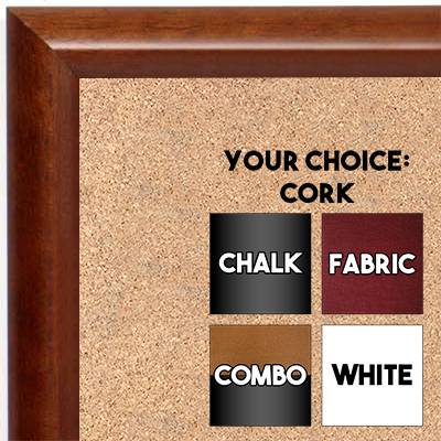 BB1409-1 Classic Cherry Small To Medium Custom Cork Chalk or Dry Erase Board