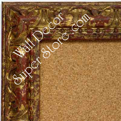 BB1411-1 Ornate Distressed Antique Gold Medium To Extra Large Custom Cork Chalk Or Dry Erase Board