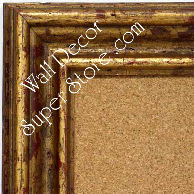BB1412-1 Distressed French Gold Medium To Extra Large Custom Cork Chalk Or Dry Erase Board