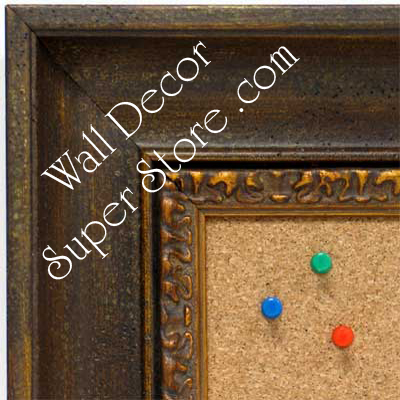 BB1415-2 Aged Look Distressed Brown Scoop Medium To Extra Large Custom Cork Chalk Or Dry Erase Board