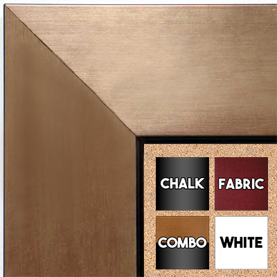 BB1431-3 Brushed Bronze With Black Medium To Extra Large Custom Cork Chalk Or Dry Erase Board