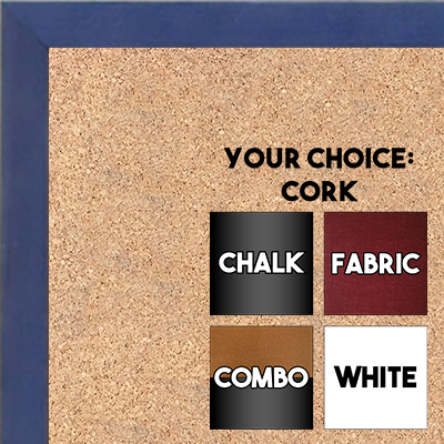 BB1511-9  Blue Stained Maple - Small Custom Cork Chalk or Dry Erase Board