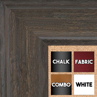 BB1514-3 Walnut Distressed Barnwood - Extra Extra Large Wall Board Cork Chalk Dry Erase